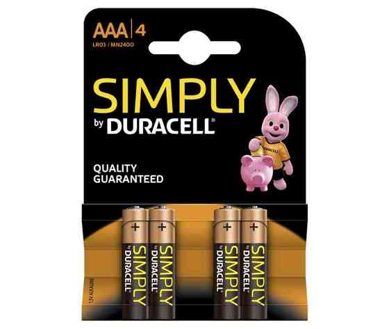 Batteria Duracell Simply AAA/4 Ministilo