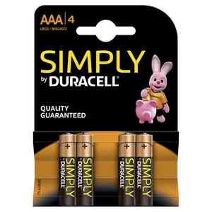 Batteria Duracell Simply AA/4 Stilo