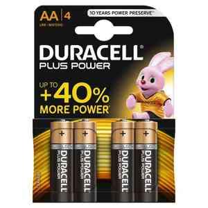 Batteria Duracell Plus Power AA/4 Stilo