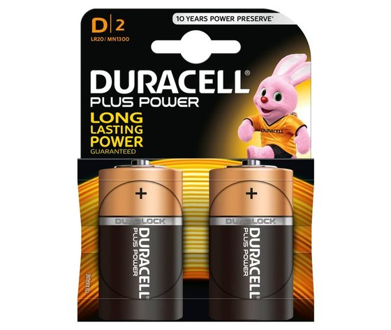 Batteria Duracell Torcia D/2