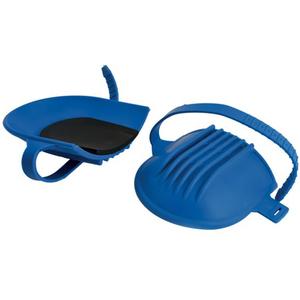 Ginocchiera in gomma blu