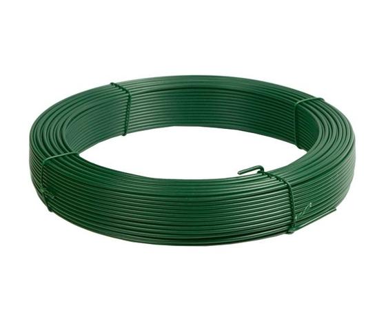 Filo plastificato verde per rete e recinzioni ⌀ 0,90 mm x 30 m