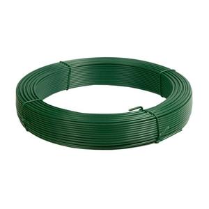 Filo plastificato verde per rete e recinzioni ⌀ 1,8 mm x 100 m