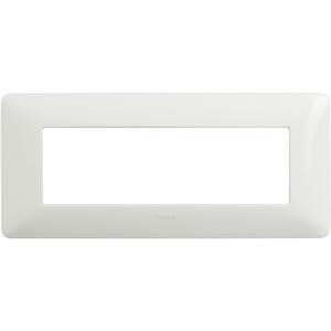 Placca 6 Moduli Serie Matix Bianco - BTICINO