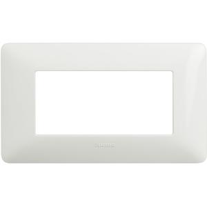 Placca 4 Moduli Serie Matix Bianco - BTICINO