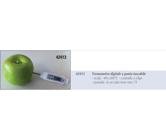 Termometro digitale a punta tascabile   42413