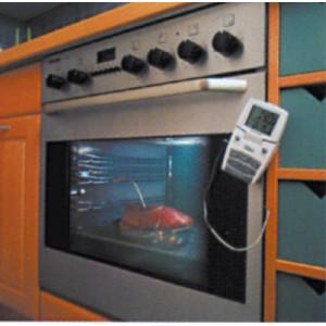 TERMOMETRO con SONDA A  PUNTA per FORNO - scala -10°+200°C
