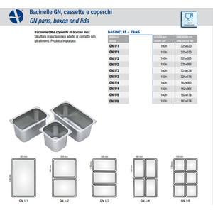 BACINELLE INOX GN 1/6 - cm 15h