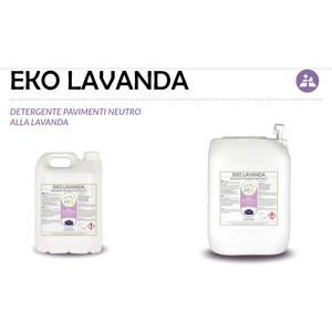 """EKO LAVANDA"" DETERGENTE ECOLOGICO LIQUIDO PROFESSIONALE PER PAVIMENTI - 1 CARTONE da 2 taniche da 5 kg"