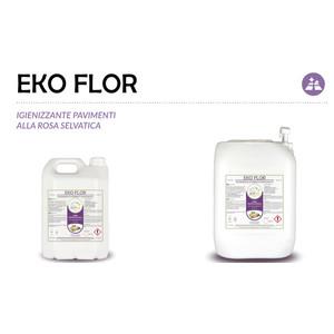 """""""EKO FLOR"""" IGIENIZZANTE ECOLOGICO LIQUIDO PROFESSIONALE PER PAVIMENTI - 1 CARTONE da 2 taniche da 5 kg"""