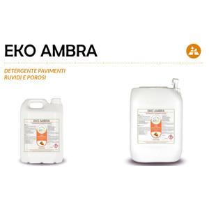 """""""EKO AMBRA"""" DETERGENTE ECOLOGICO LIQUIDO PROFESSIONALE PER PAVIMENTI RUVIDI E POROSI - 1 CARTONE da 2 taniche da 5 kg"""
