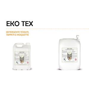 """""""EKO TEX"""" DETERGENTE SPECIFICO ECOLOGICO LIQUIDO PROFESSIONALE PER TESSUTI TAPPETI E MOQUETTE - 1 CARTONE da 2 taniche da 5 kg"""