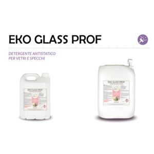 """""""EKO GLASS PROF"""" DETERGENTE SPECIFICO ECOLOGICO LIQUIDO PROFESSIONA ANTISTATICO PER VETRI E SPECCHI - 1 CARTONE da 2 taniche da 5 kg"""