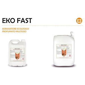 """""""EKO FAST"""" SGRASSATORE ECOLOGICO PROFUMATO MULTIUSO LIQUIDO PROFESSIONALE - 1 CARTONE da 2 taniche da 5 kg"""