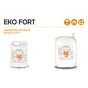 """EKO FORT"" SGRASSATORE ECOLOGICO LIQUIDO PROFESSIONALE PER GRASSI PROTEICI COTTI - 1 CARTONE da 1 taniche da 20 kg"