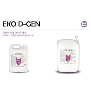 """""""EKO D-GEN"""" DISINCROSTANTE ECOLOGICO PER MANUTENZIONI PERIODICHE LIQUIDO PROFESSIONALE - 1 CARTONE da 2 taniche da 5 kg"""