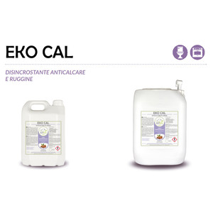 """""""EKO CAL"""" DISINCROSTANTE ECOLOGICO LIQUIDO PROFESSIONALE PER CALCARE E RUGGINE - 1 CARTONE da 1 tanica da 20 kg"""
