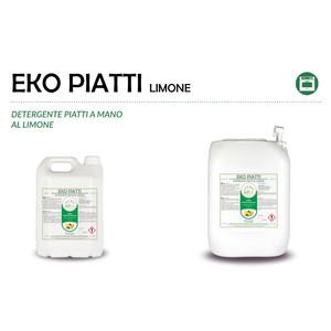 """""""PIATTI LIMONE"""" DETERGENTE ECOLOGICO LIQUIDO PROFESSIONALE PER IL LAVAGGIO DI STOVIGLIE - 1 CARTONE da 2 taniche da 5 kg"""