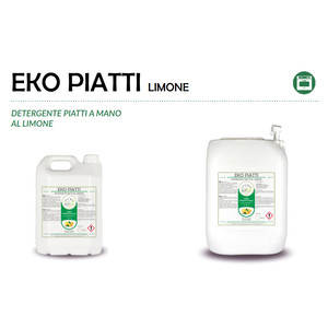 """""""PIATTI LIMONE"""" DETERGENTE ECOLOGICO LIQUIDO PROFESSIONALE PER IL LAVAGGIO DI STOVIGLIE - 1 CARTONE da 1 tanica da 20 kg"""