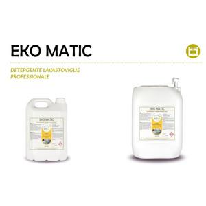 """""""EKO MATIC"""" DETERGENTE ECOLOGICO LIQUIDO PROFESSIONALE PER IL LAVAGGIO IN LAVASTOVIGLIE - 1 CARTONE da 2 taniche da 5 kg"""