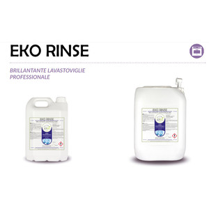 """""""EKO RINSE"""" BRILLANTANTE ECOLOGICO LIQUIDO PROFESSIONALE PER IL LAVAGGIO IN LAVASTOVIGLIE - 1 CARTONE da 2 taniche da 5 kg"""