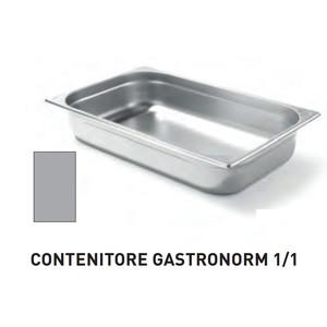 CONTENITORI GASTRONORM PLUS LINE ACCIAIO INOX GN 1/1 (mm530x325) - h 150mm