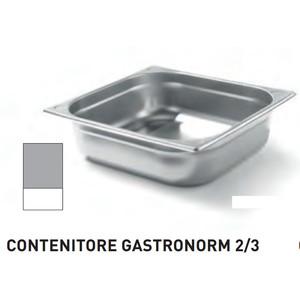 CONTENITORI GASTRONORM PLUS LINE ACCIAIO INOX GN 2/3 (mm354x325) - h 65mm