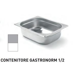 CONTENITORI GASTRONORM PLUS LINE ACCIAIO INOX GN 1/2 (mm325x265) - h 40mm