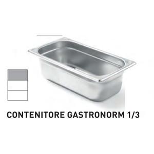 CONTENITORI GASTRONORM PLUS LINE ACCIAIO INOX GN 1/3 (mm325x176) - h 100mm