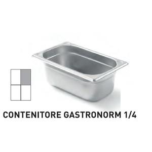 CONTENITORI GASTRONORM PLUS LINE ACCIAIO INOX GN 1/4 (mm265x162) - h 100mm