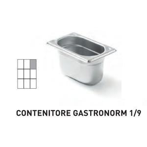 CONTENITORI GASTRONORM PLUS LINE ACCIAIO INOX GN 1/9 (mm176x108) - h 65mm