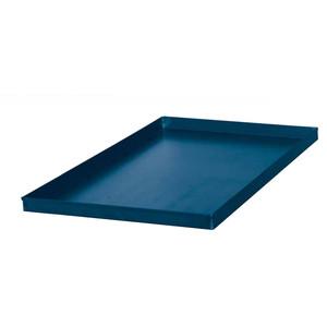 Teglia in LAMIERA BLU con bordo di piega - cm 40X80 - bordo h 2/3 cm - NATURALE