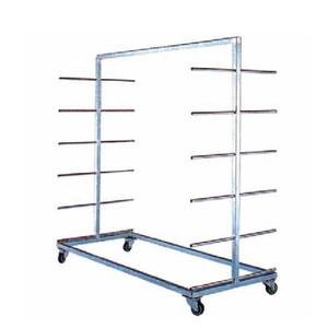 Carrello porta tavole a pioli DOPPIO – INOX AISI 304 – 12+12 posti