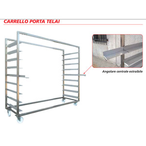 Carrello porta telai d'infornamento – INOX AISI 304 8 Posti - TUBOLARI mm 40X40