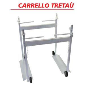 Carrello appoggia telai tretau - ZINCATO - telai 58 cm