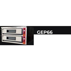 FORNO ELETTRICO PER PIZZA - GEP 66  (2 CAMERE DI COTTURA) - 6+6 pizze diam cm 33