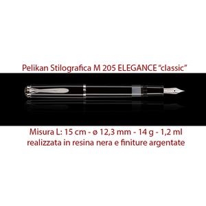 M 205 Elegance classic nera ARGENTO