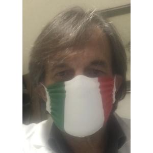 Mascherina nera a fascia protettiva facciale seamless doppio strato