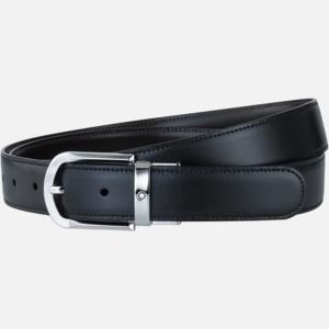 Cintura Montblanc elegante nera/marrone reversibile regolabile classica MB111080