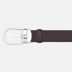 Cintura elegante nera/marrone reversibile regolabile MB113834