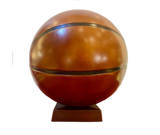 Salvadanaio in pelle palla da basket made in italy