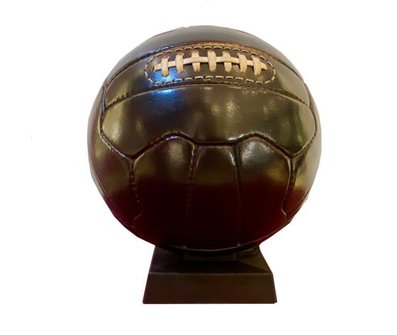 Salvadanaio in pelle palla da calcio made in italy