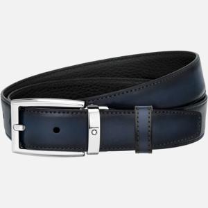 cintura-montblanc-elegante-reversibile-nera-blu-su-misura  MB123899