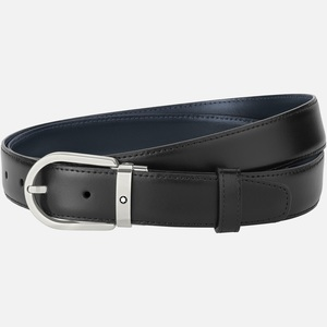 Cintura Montblanc con fibbia ad ardiglione a ferro di cavallo in titanio opaco 126024