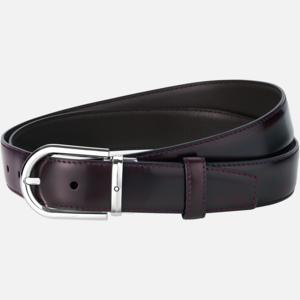 Cintura Montblanc con fibbia ad ardiglione a ferro di cavallo finitura palladio lucido  MB126014