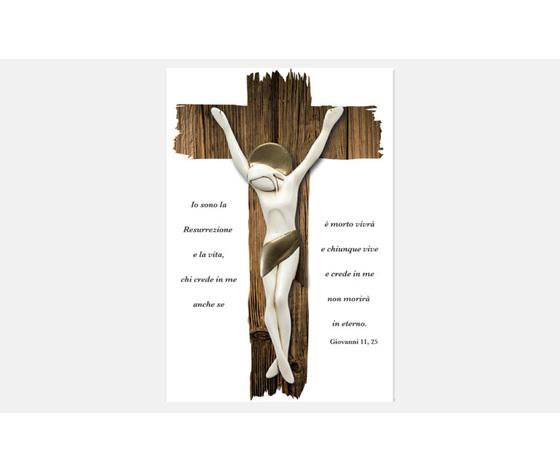 CROCIFISSO CON CITAZIONE BIBLICA
