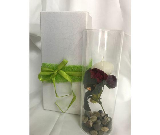 candela con fiori