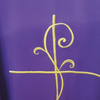 Casula sacerdotale ricamo croce davanti e dietro tessuto vatican extra big 3086 130