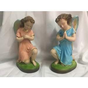 COPPIA ANGELI IN PREGHIERA CM 20