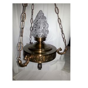 COPY OF LAMPADA IN OTTONE CON BRACCETTI DI FUSIONE